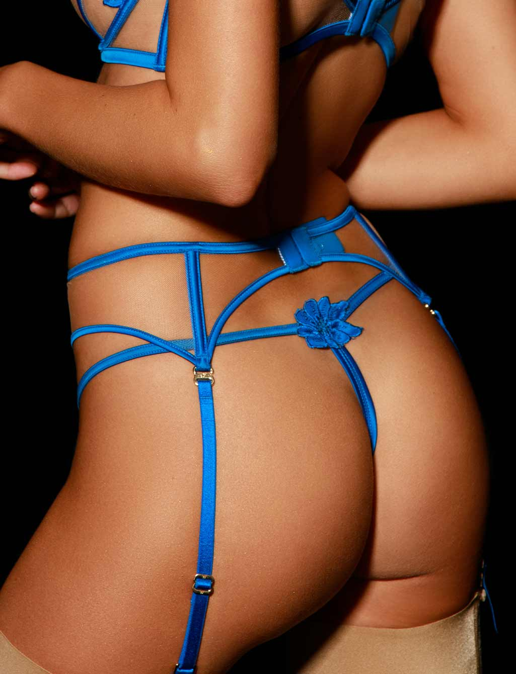 Amelie Blue Garter Belt