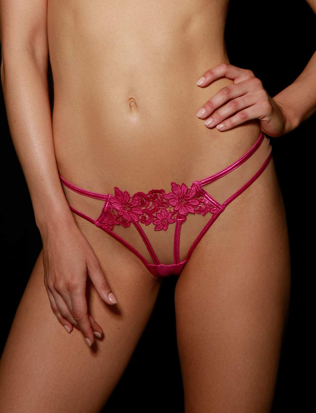 Amelie Pink Panty - Shop Panties | Honey Birdette