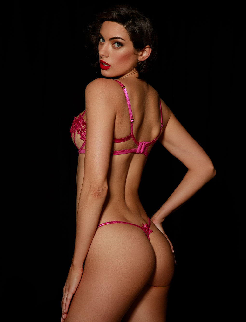 Amelie Pink Thong - Shop Thong & G Strings | Honey Birdette