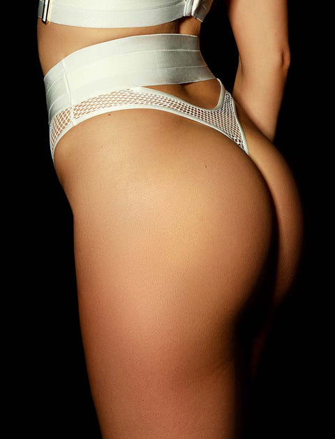 Axl Ivory Thong | Shop Thongs & G Strings | Honey Birdette
