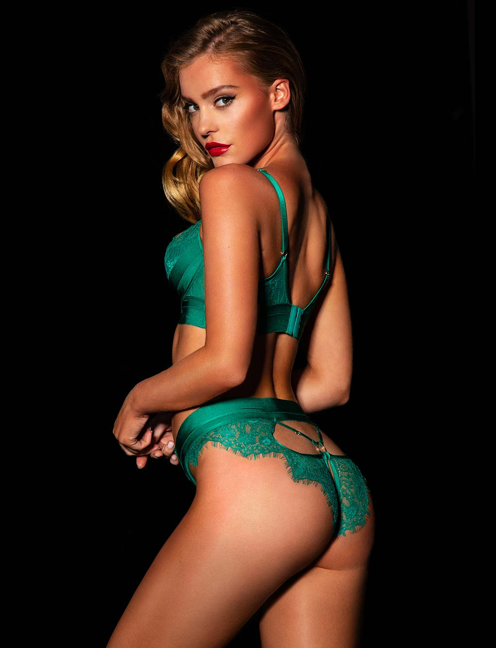 Belinda Emerald Bra & Bottoms Set