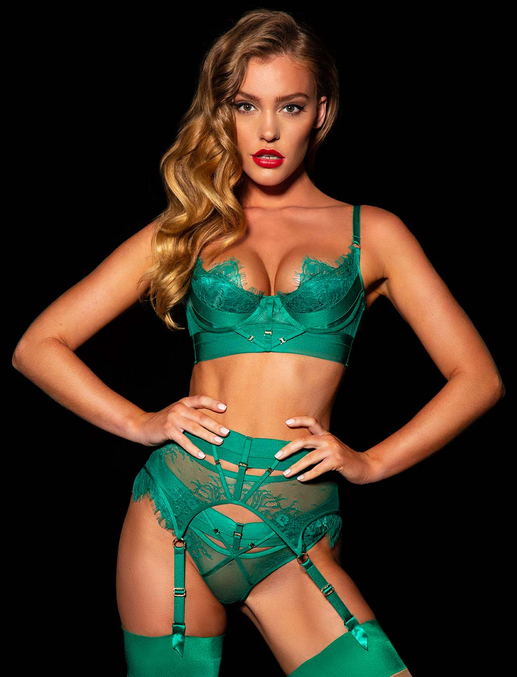 Belinda Emerald Push up Bra