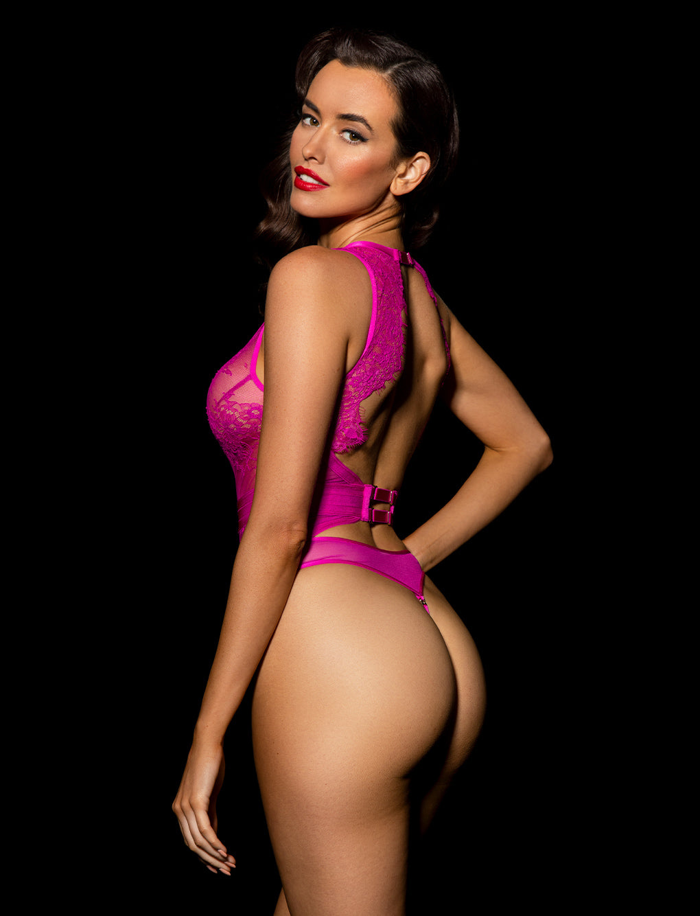 Belinda Hot Pink Bodysuit