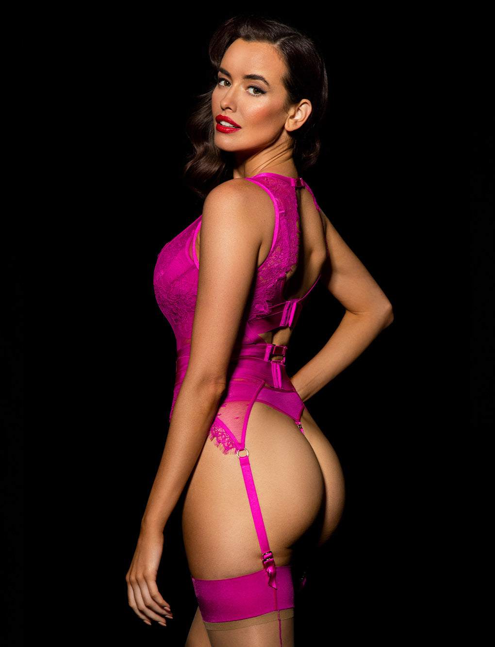 Belinda Hot Pink Bodysuit Set