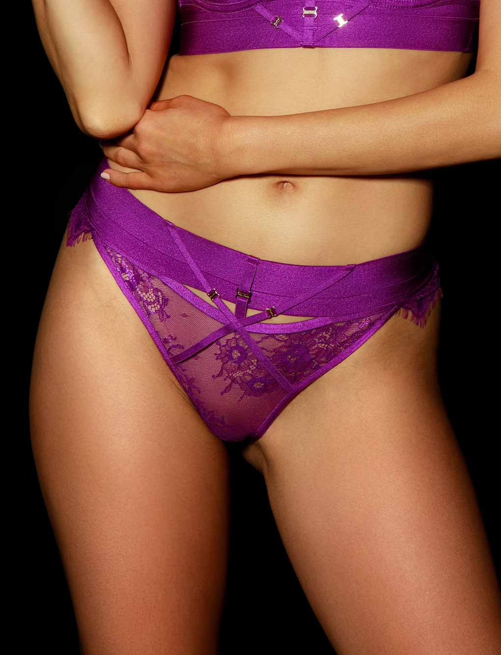 Belinda Purple Panty | Shop Panties | Honey Birdette