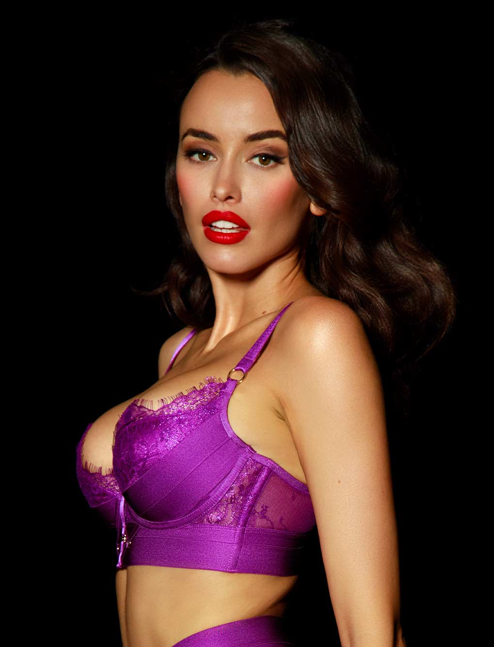 Belinda Purple Lace Push Up Bra | Shop Bras | Honey Birdette