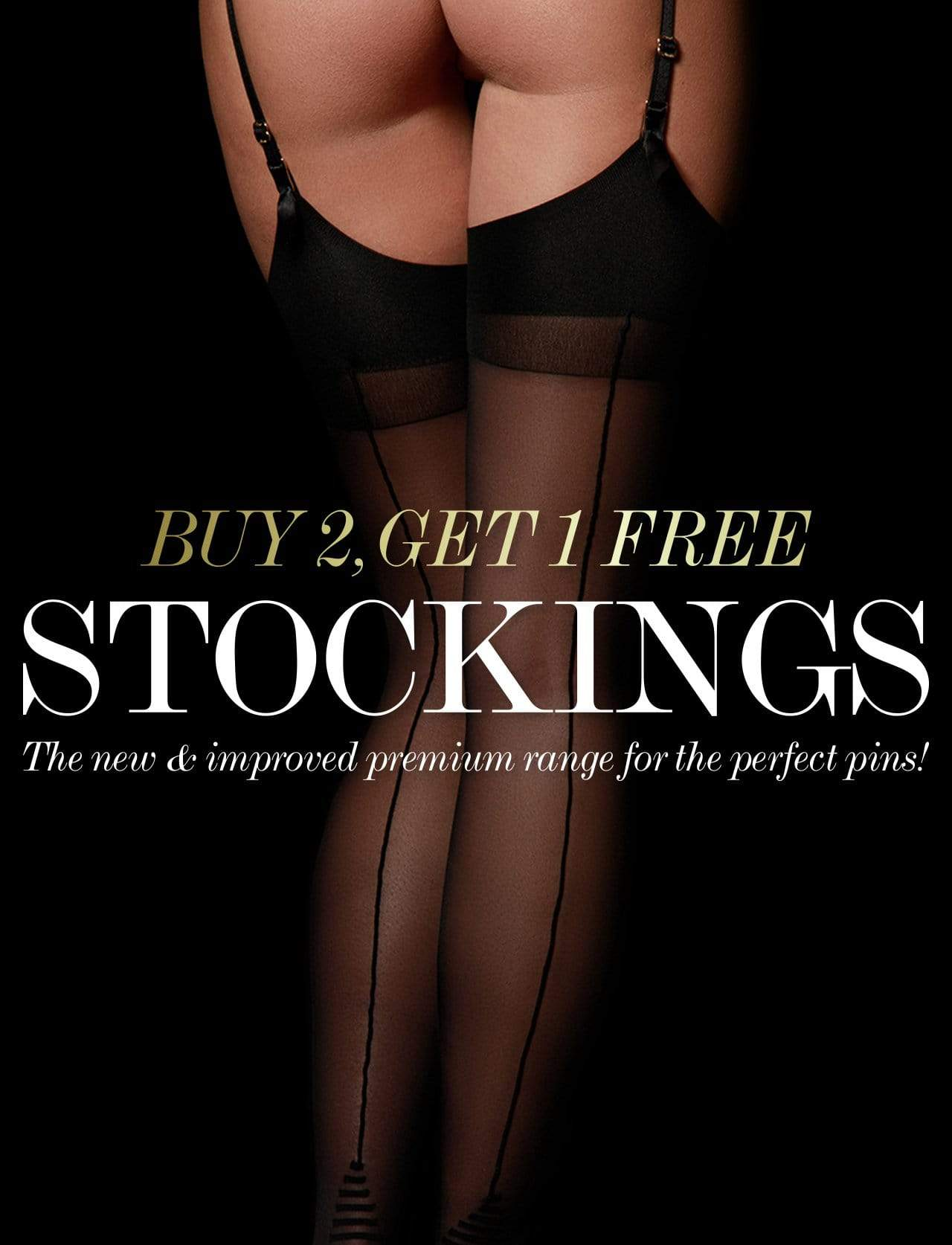 Sheers Navy Stay Up Stockings