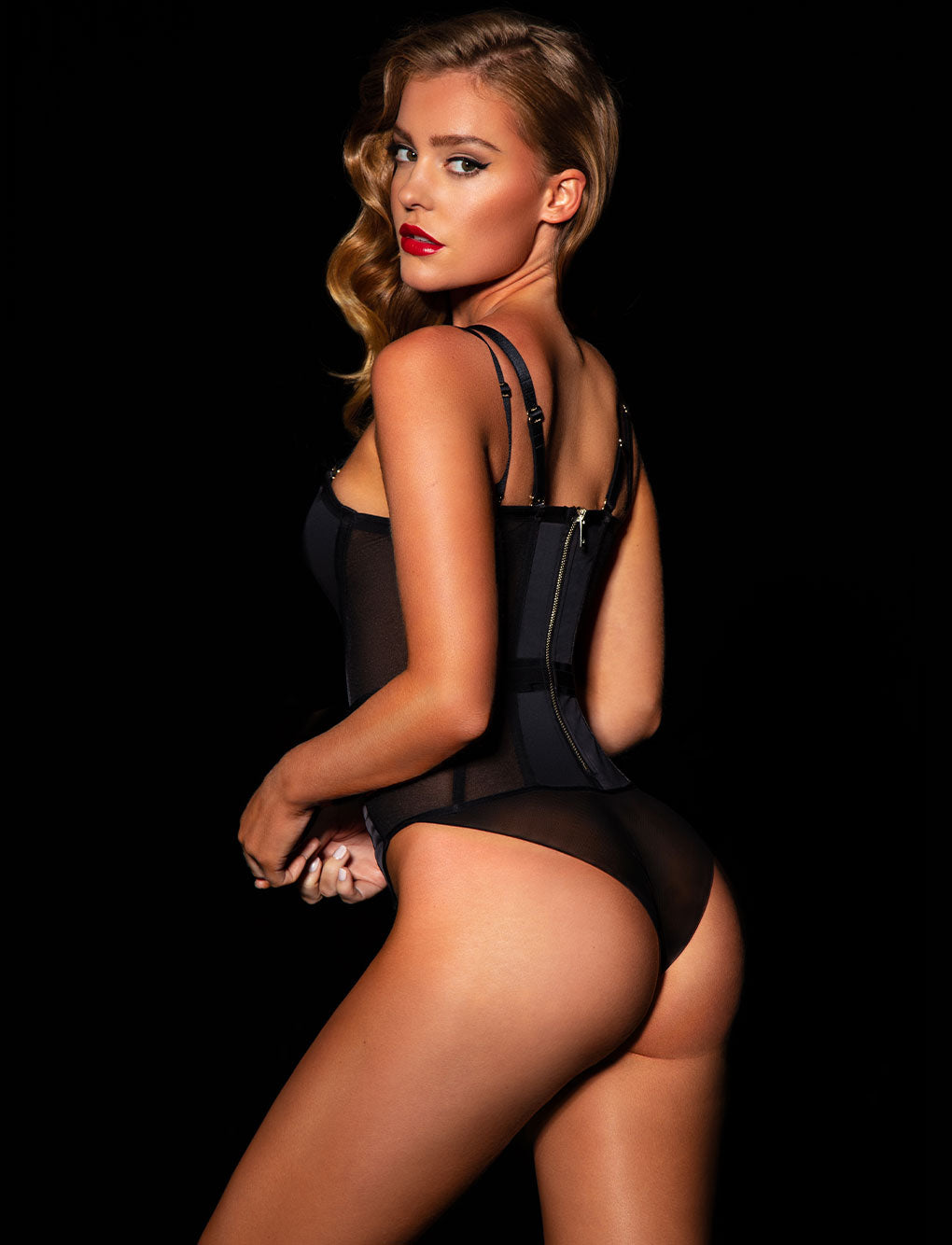 Cole Black Bodysuit | Shop Bodysuits & Corsets | Honey Birdette
