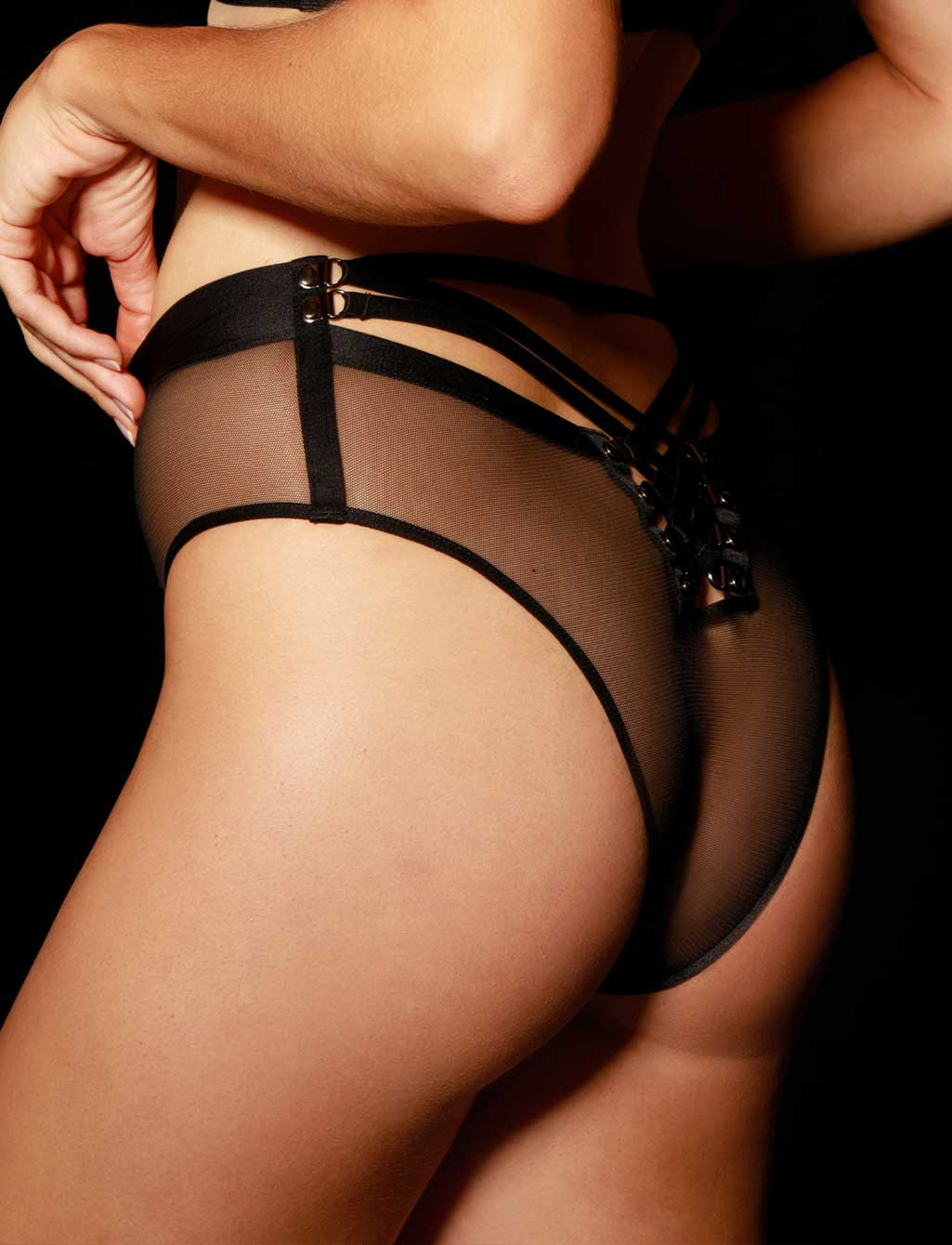 Courtney Black Panty | Shop Sexy Lingerie Honey Birdette