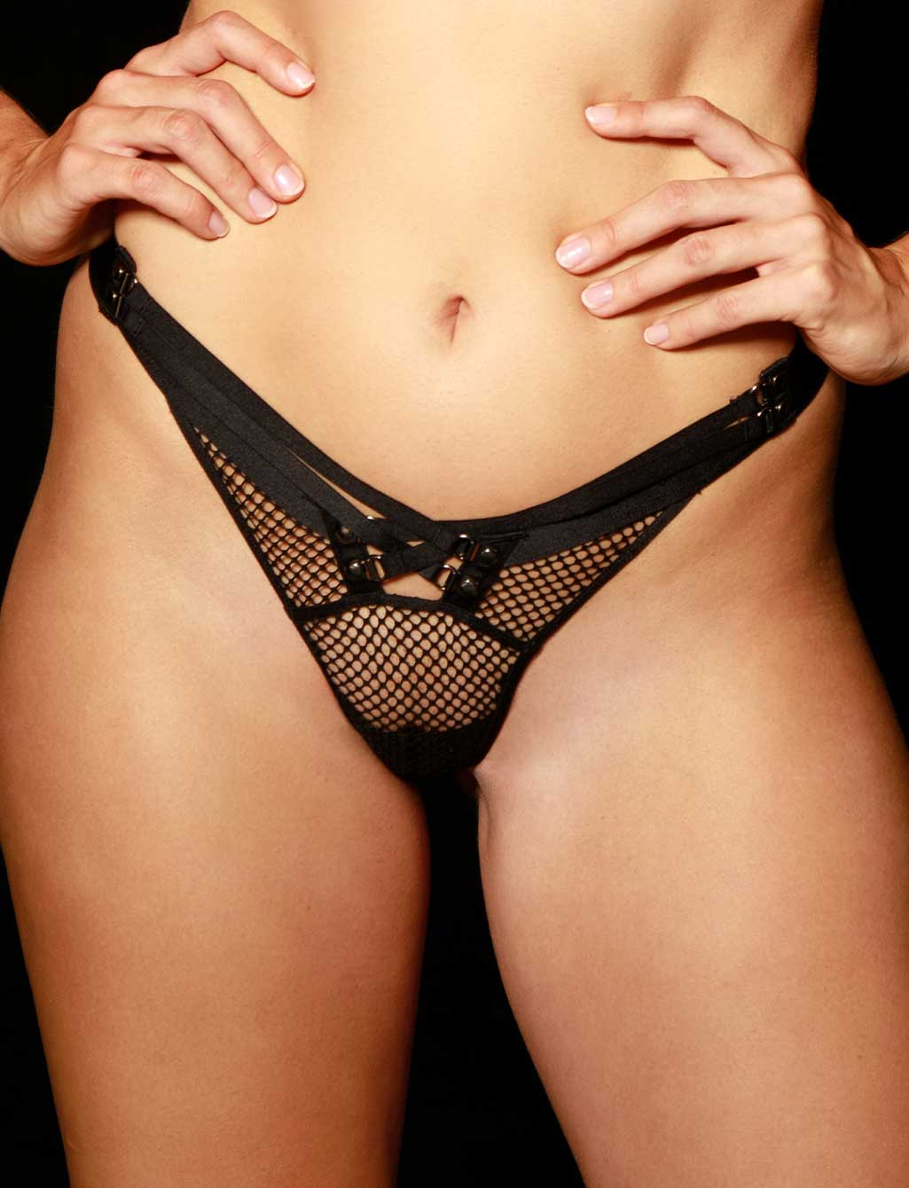 Courtney Black Thong G String | Shop Sexy Lingerie Honey Birdette