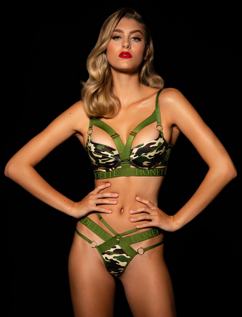 Elvis Camo Bra & Bottoms Set