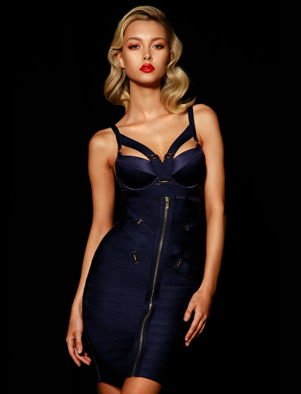 Elvis Navy Skirt Set