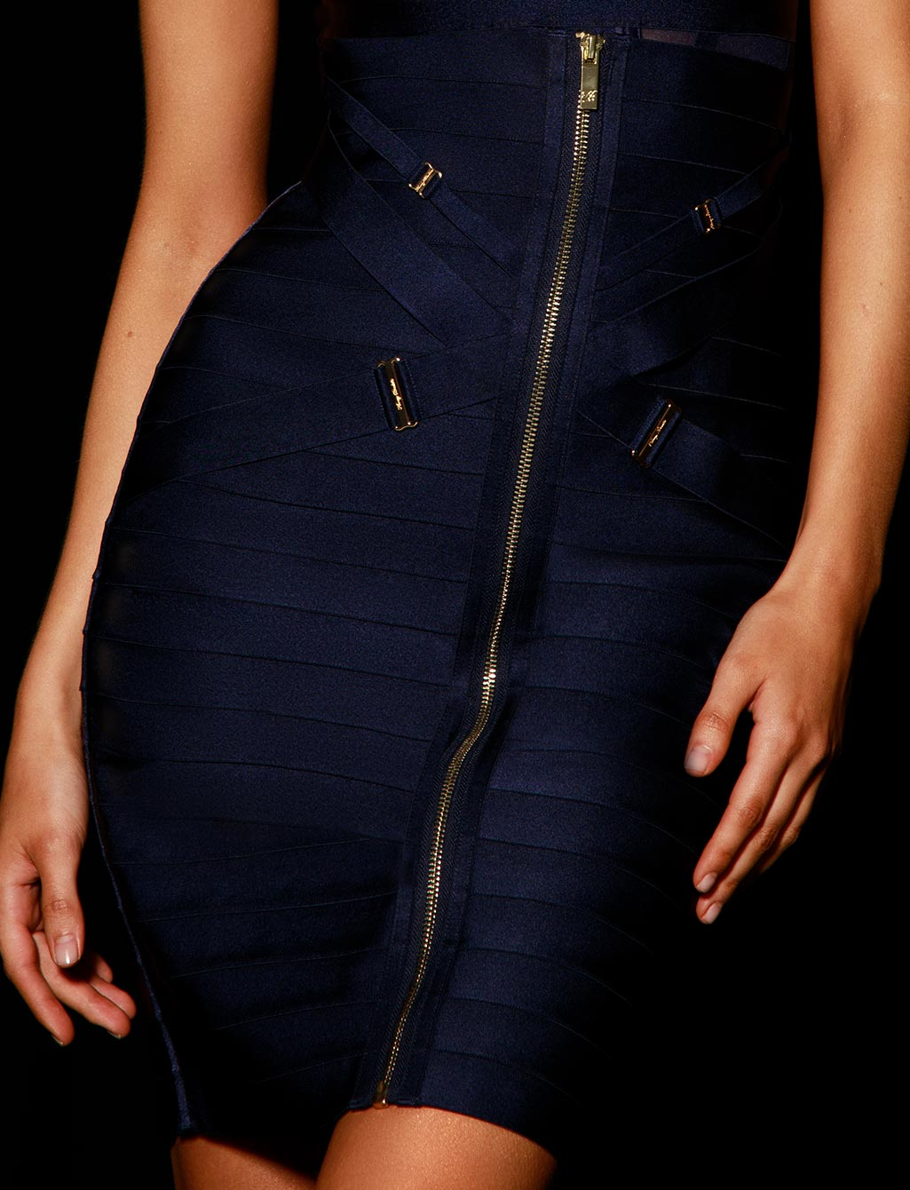 Elvis Navy Blue Skirt