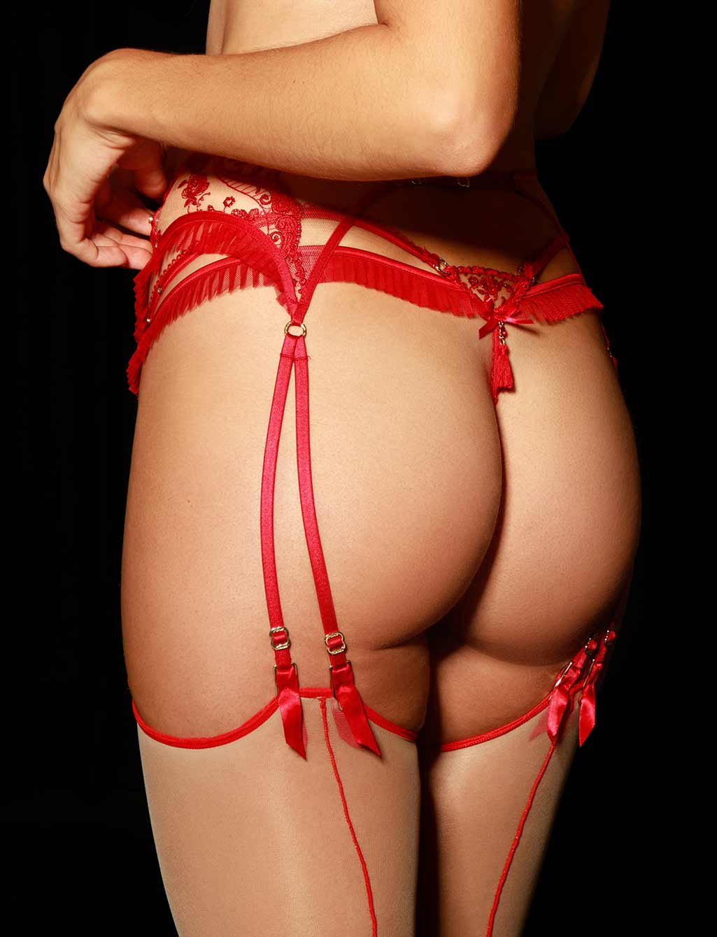 Frida Red Garter Belt