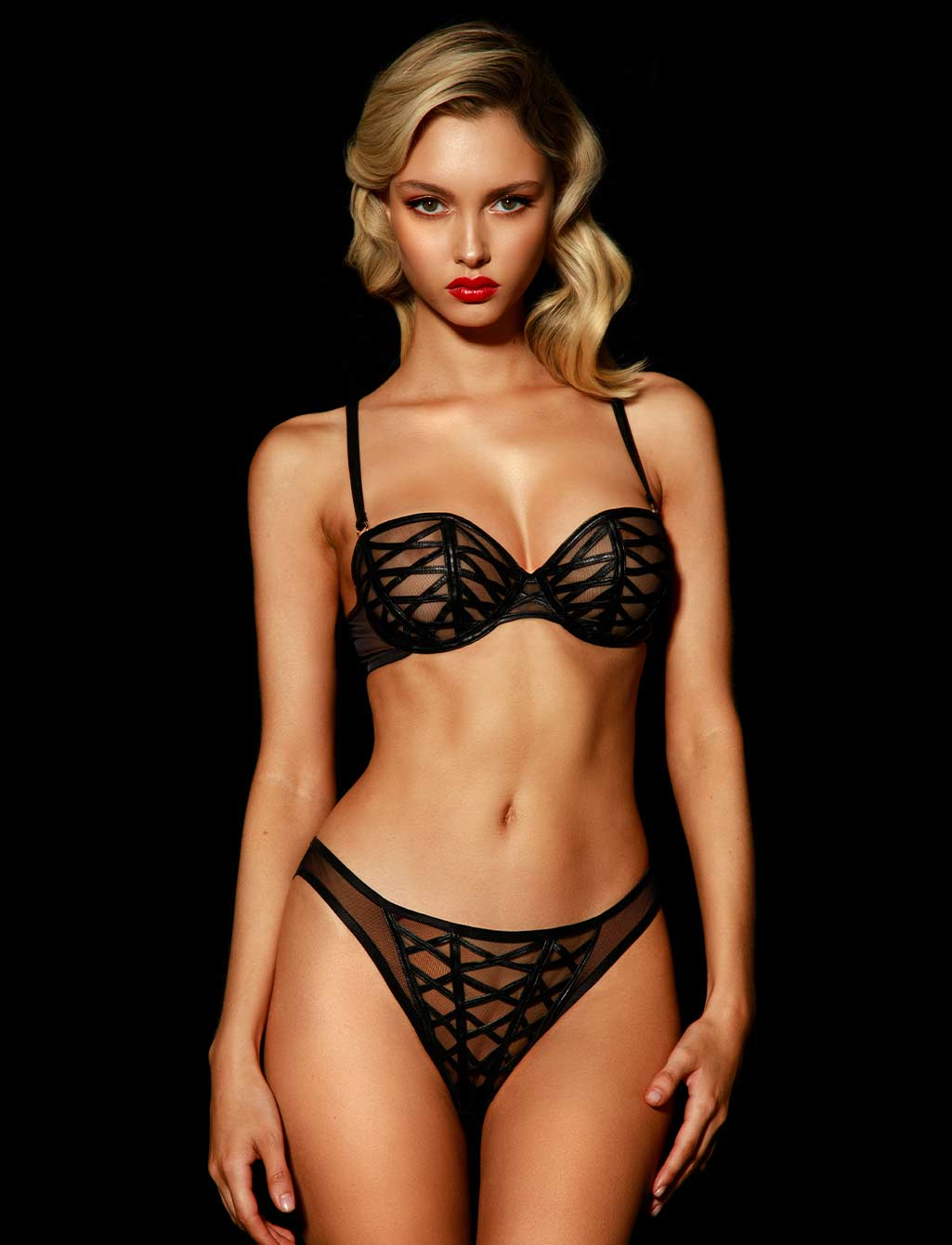 Jesse Black Lingerie Set | Shop  Lingerie Honey Birdette