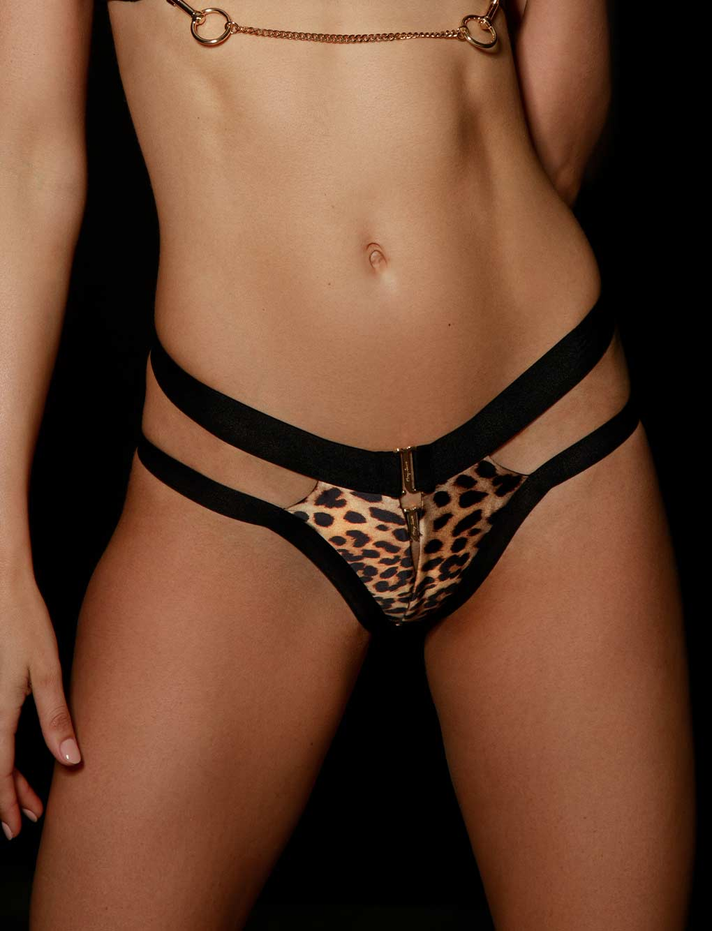 Kukuro Leopard Panty | Shop Panties | Honey Birdette