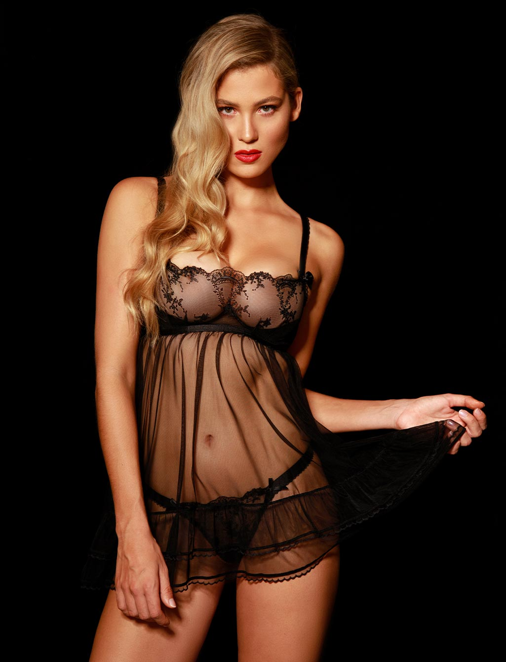 Layla Black Babydoll Chemise | Shop  Lingerie Honey Birdette