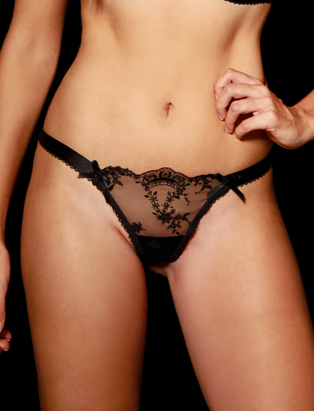 Layla Black Babydoll Thong G String | Shop  Lingerie Honey Birdette