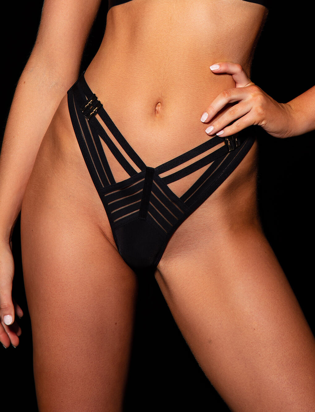Linda C Black Panty | Shop Sexy Panties | Honey Birdette