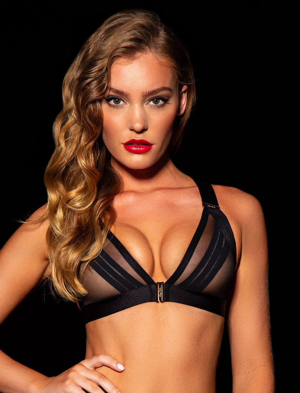 Linda C Black Bralette | Shop Bras | Honey Birdette