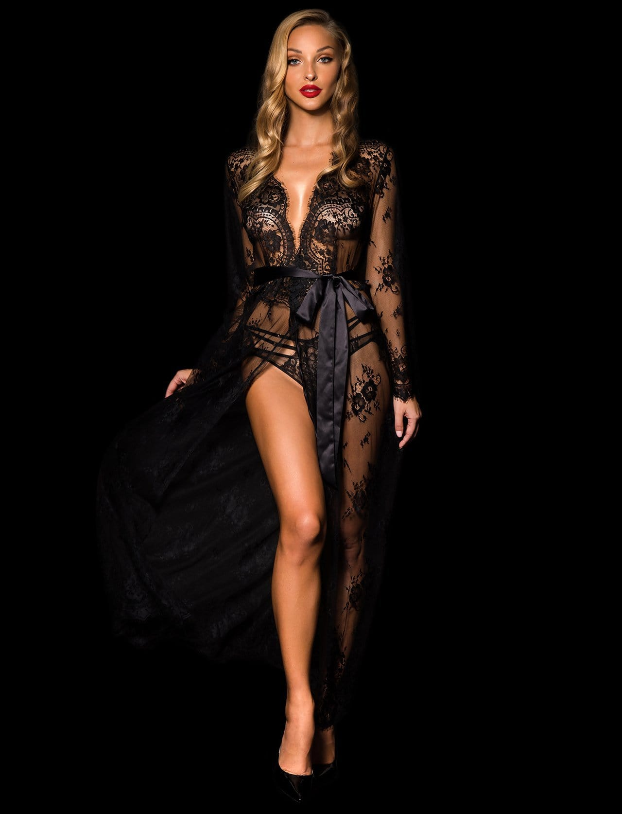Love Lace Full Length Robe