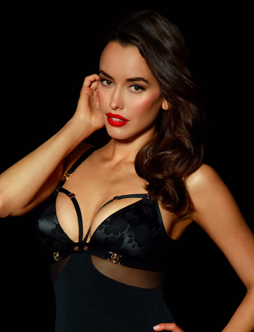 Martika Black Satin Dress | Shop Dresses & Chemises | Honey Birdette