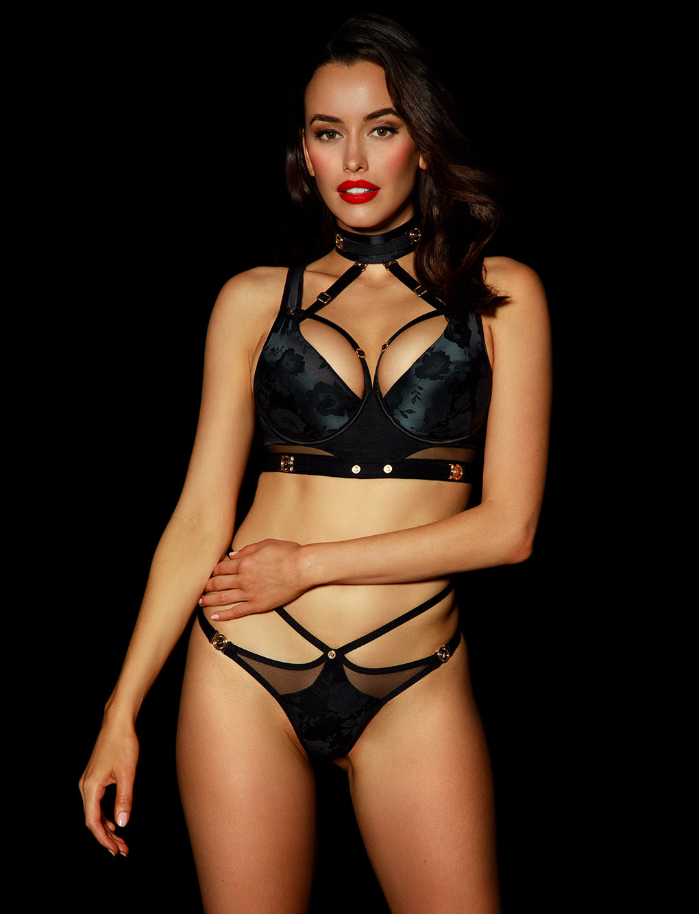 Martika Black Thong | Shop Thongs & G Strings | Honey Birdette