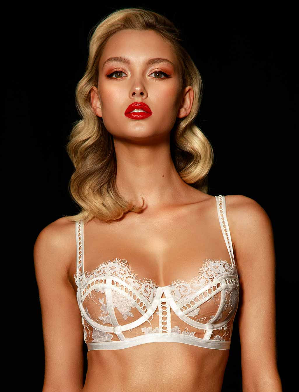 Molly Lace Ivory Bridal Underwire Bra | Shop Lingerie - Honey Birdette