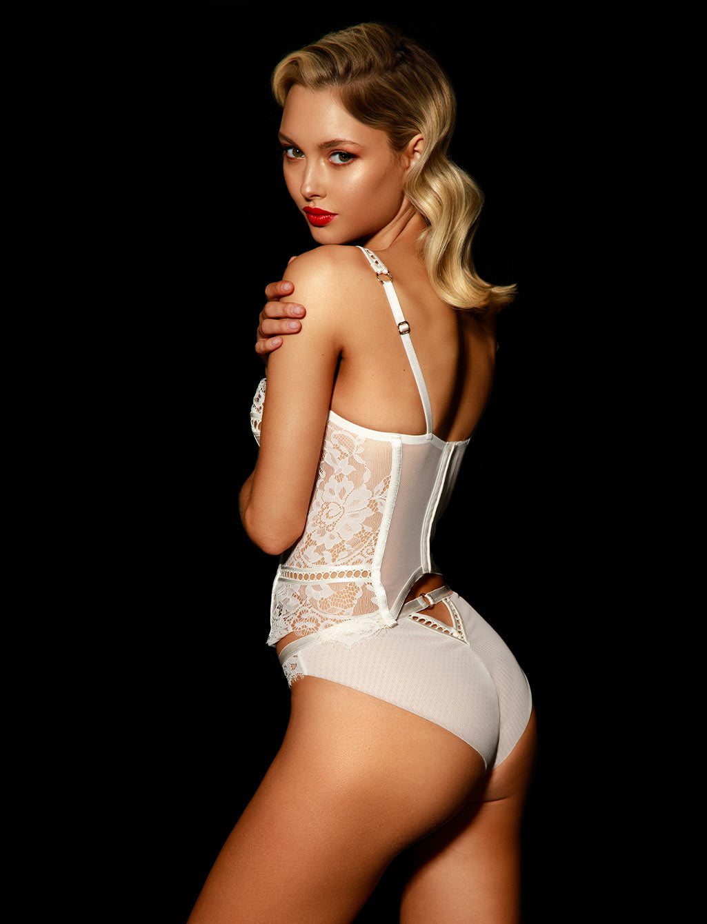 Molly Lace Ivory Bridal Underwire Bustier | Shop Lingerie - Honey Birdette
