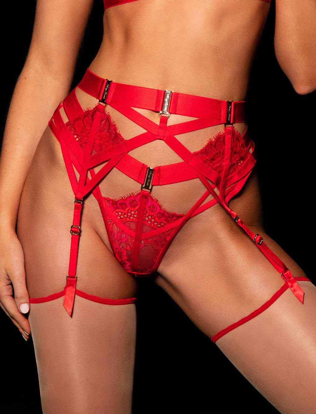 Morgan Slimline Garter Belt