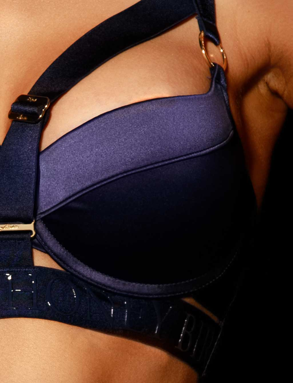 Elvis Navy Blue Push Up Bra