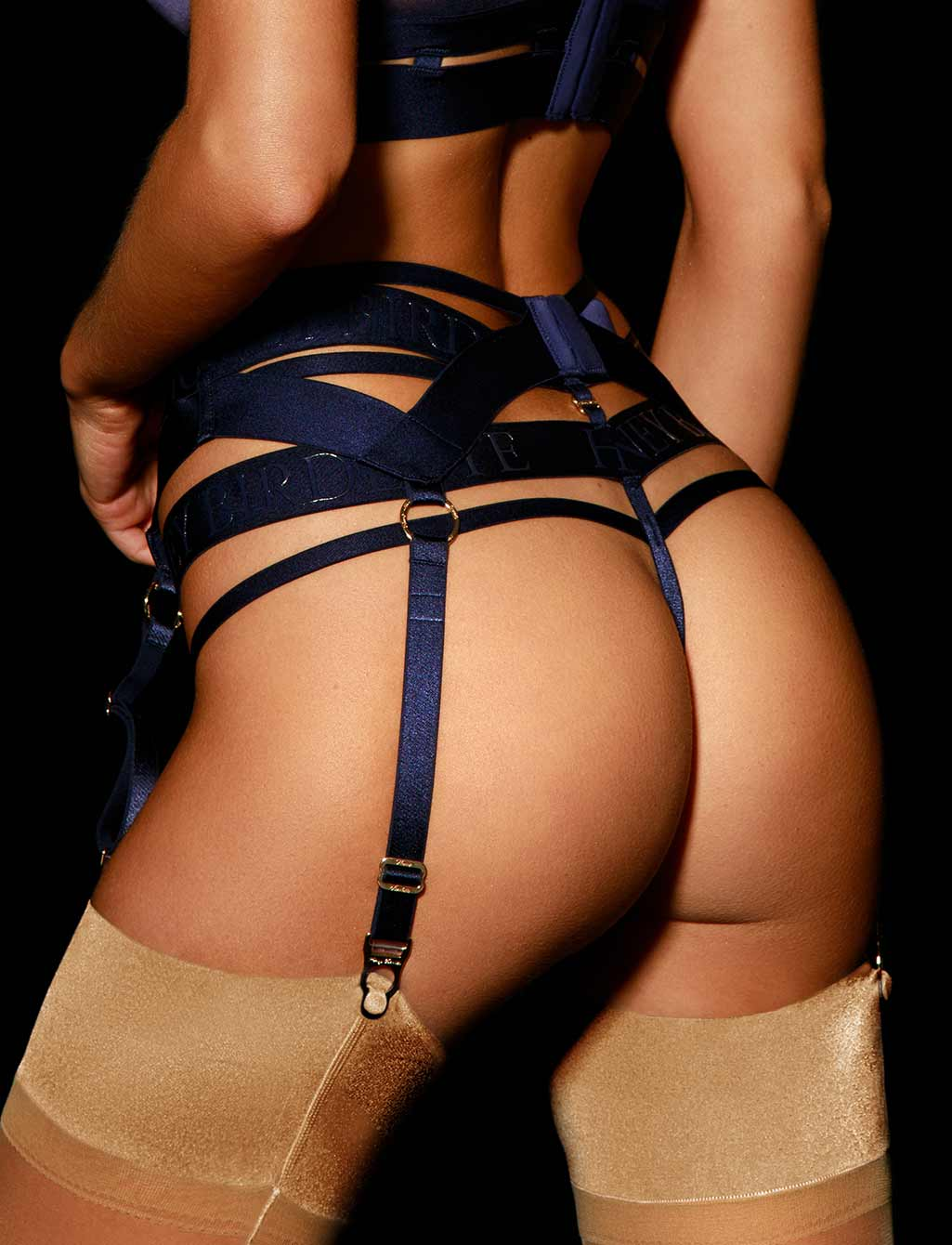 Elvis Navy Blue Garter Belt