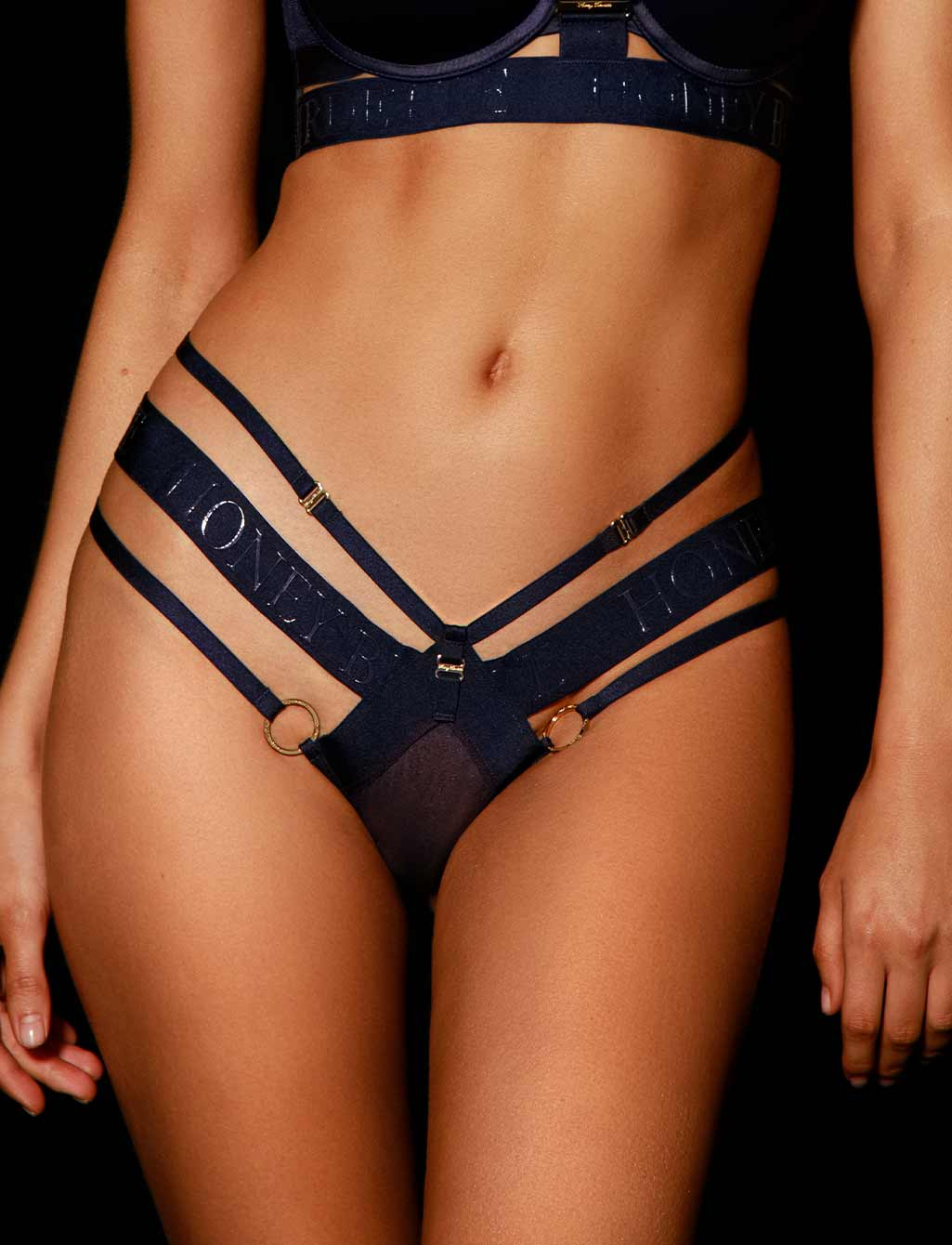 Elvis Navy Blue Thong G String