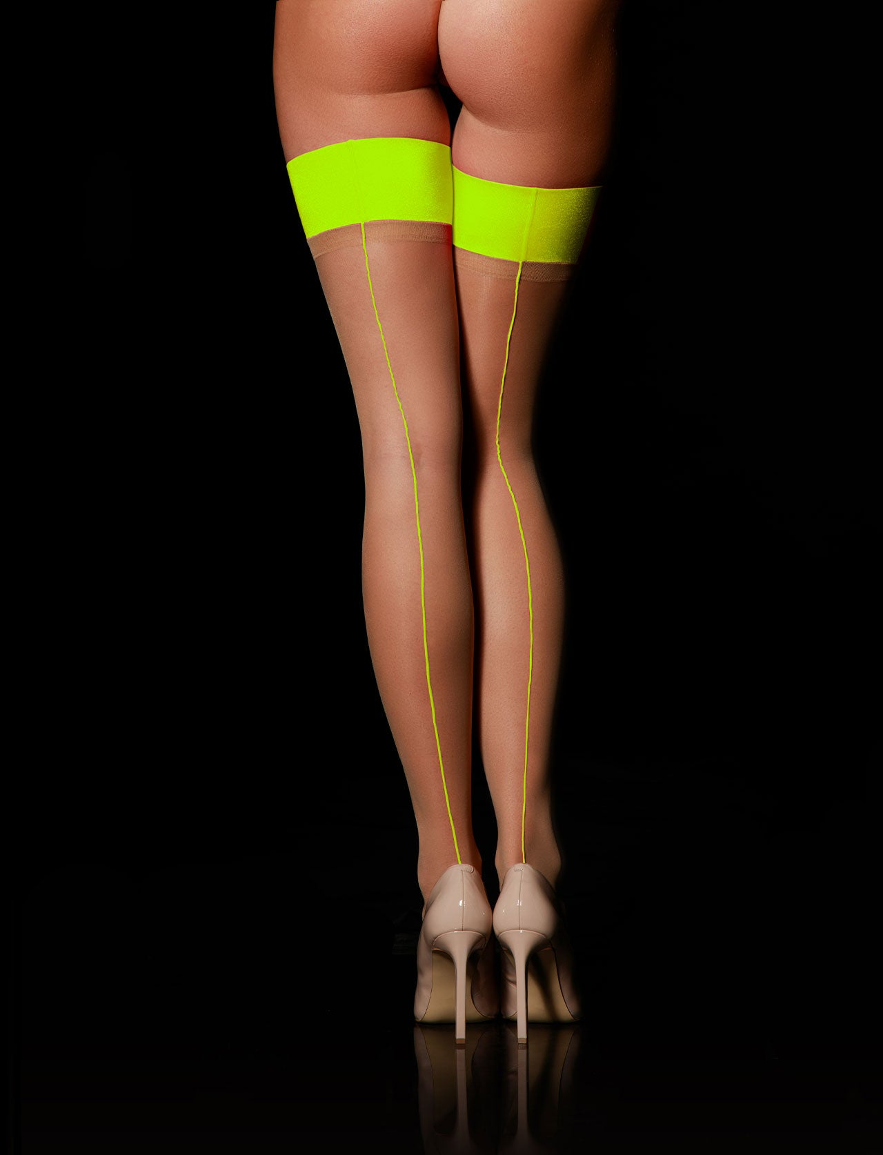 Christine Neon Stay Ups | Shop Hosiery | Honey Birdette