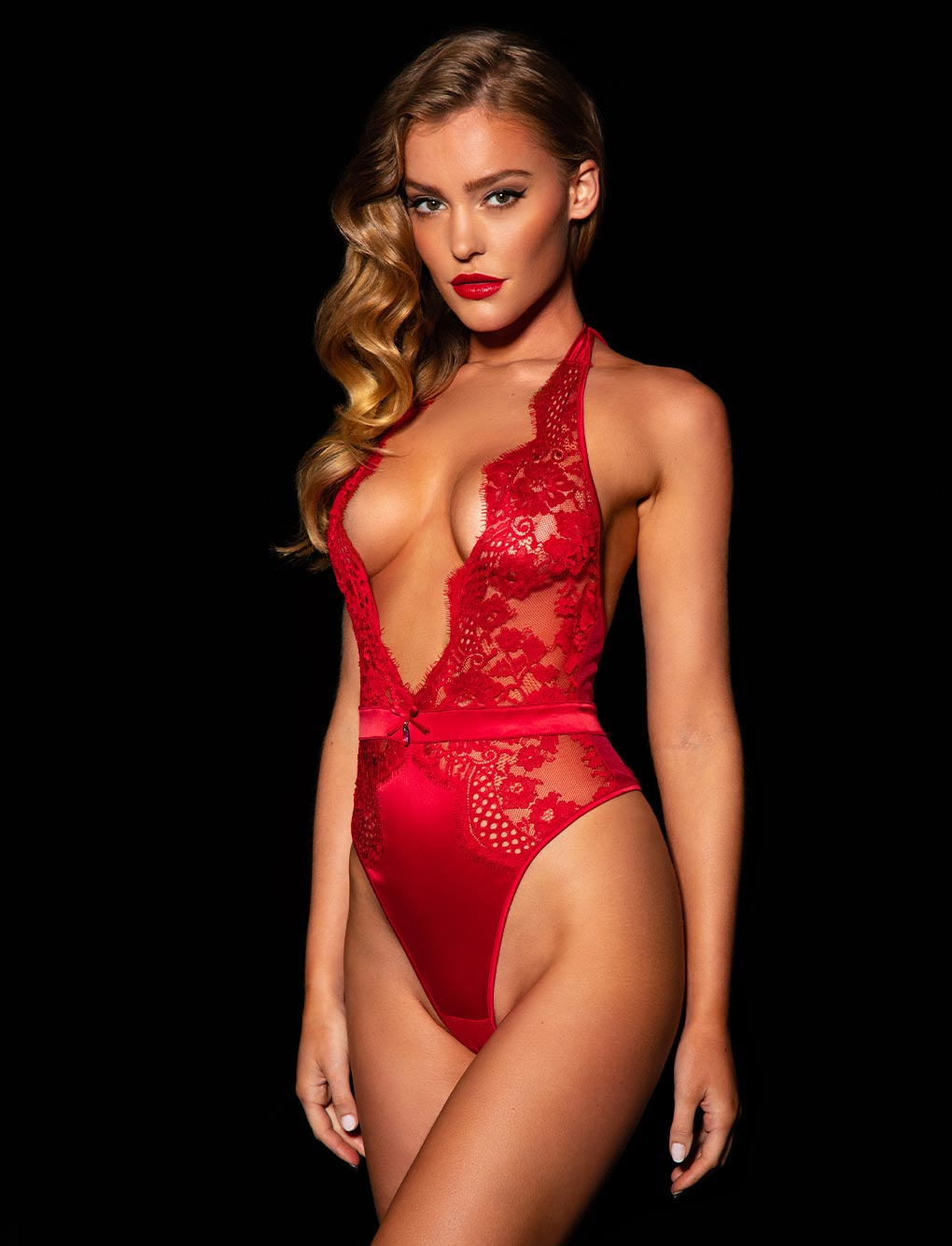 Polly Red Bodysuit