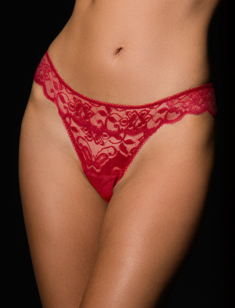 Perla Red Vibrating Panty