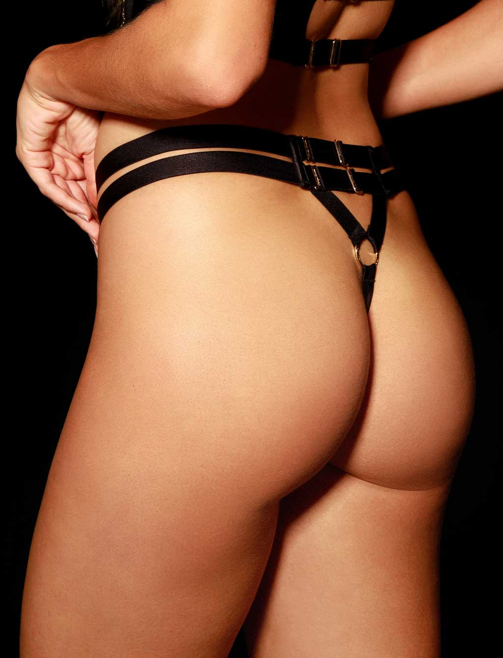 Stevie Black Thong G String | Shop  Lingerie Honey Birdette