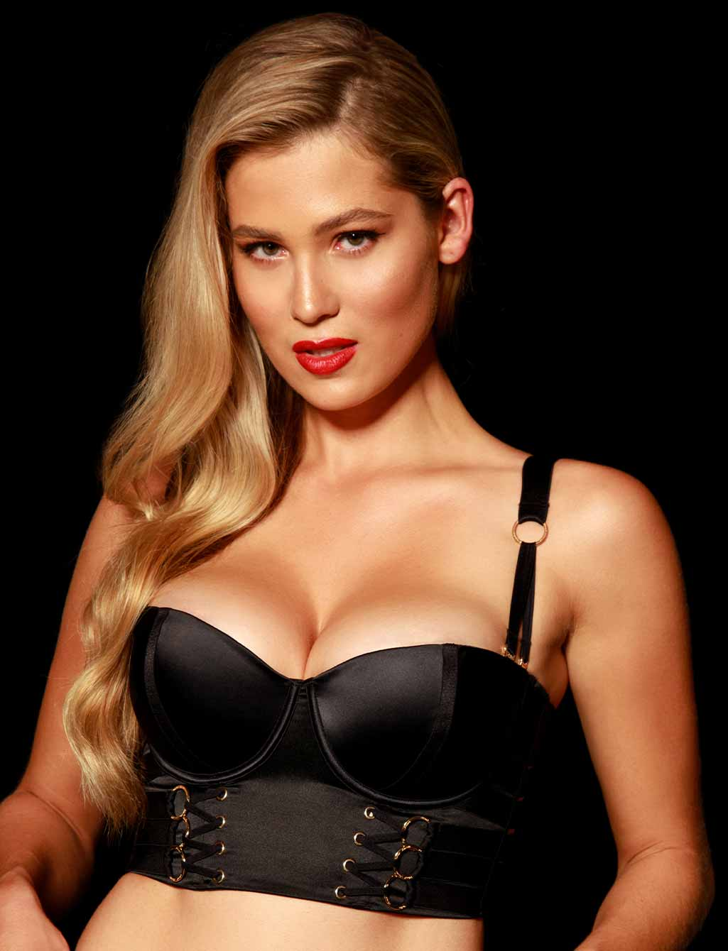 Stevie Black Push Bra | Shop  Lingerie Honey Birdette