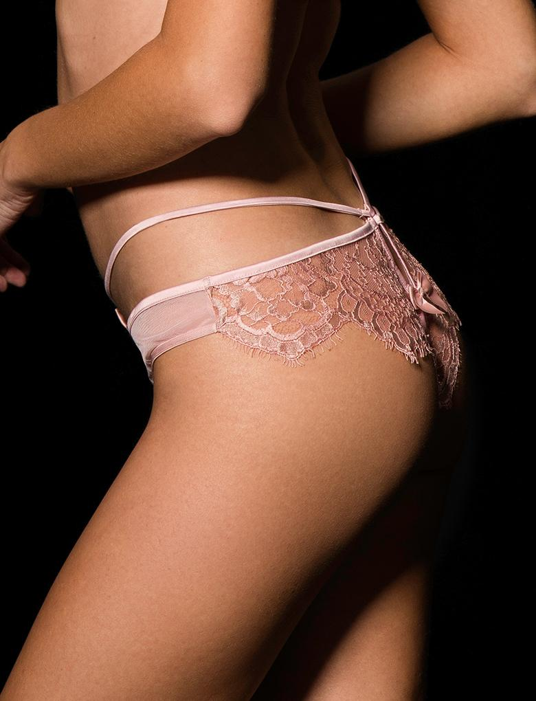 Jessica Blush Lace Panty - Shop Lingerie | Honey Birdette