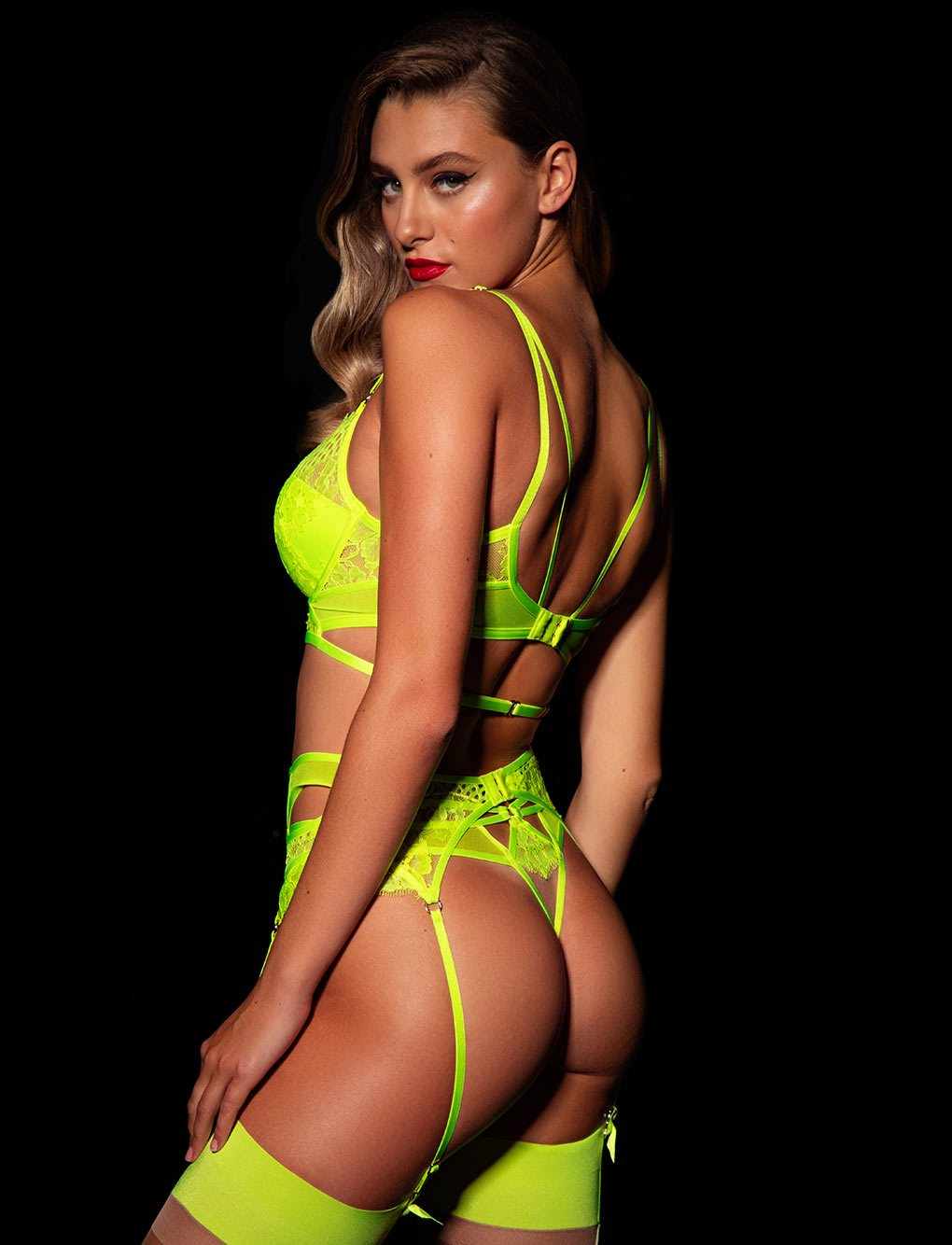 Vanessa Neon Yellow 3 Piece Set