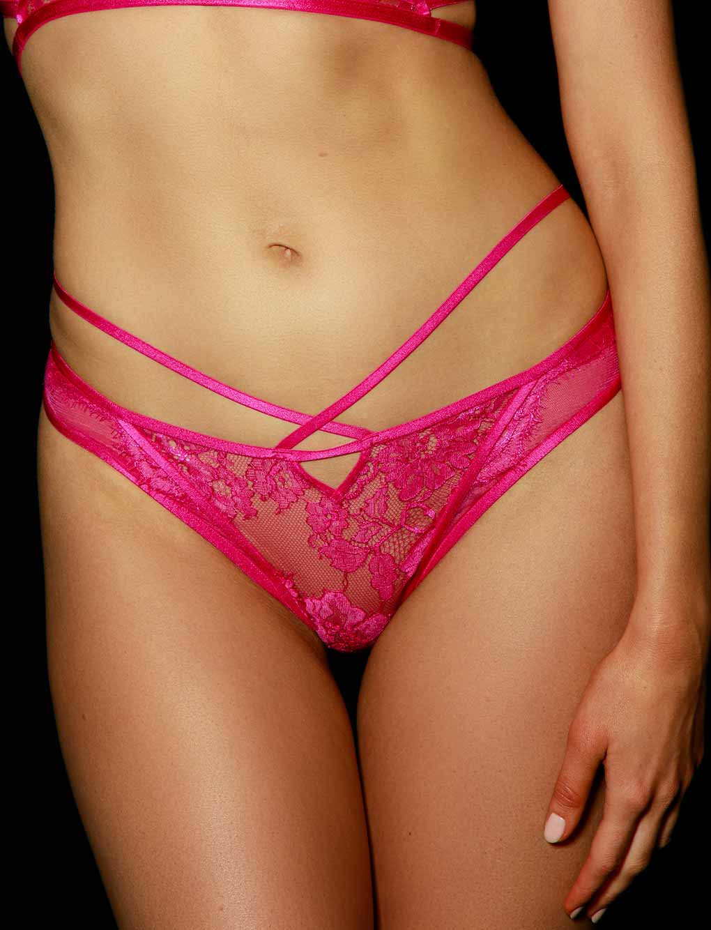 Vanessa Pink Panty | Shop Lace Panties & Hotpants | Honey Birdette