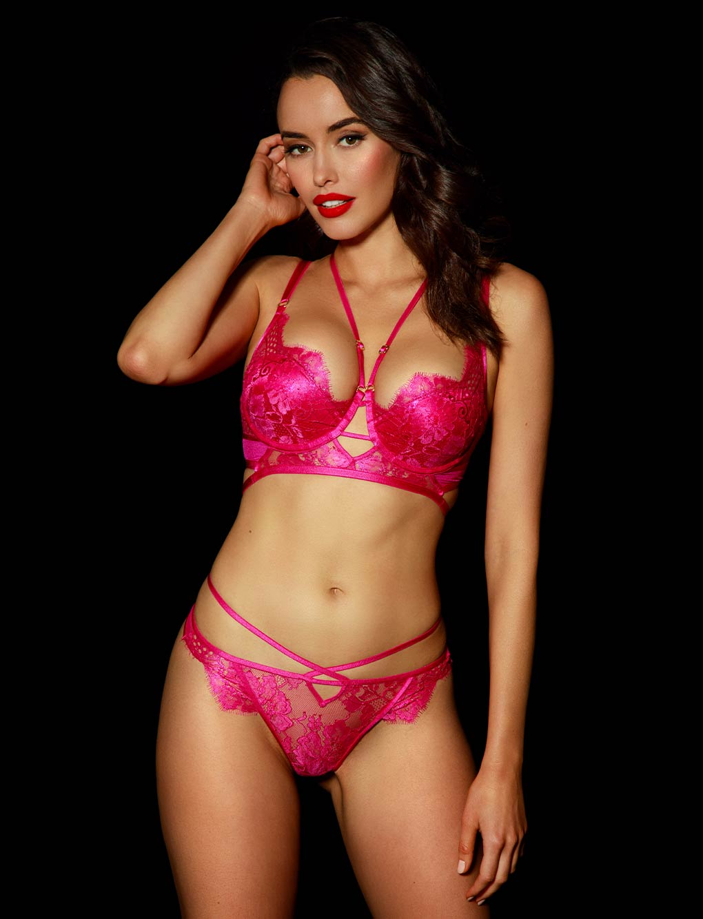 Vanessa Pink Lingerie Set | Shop Honey Birdette