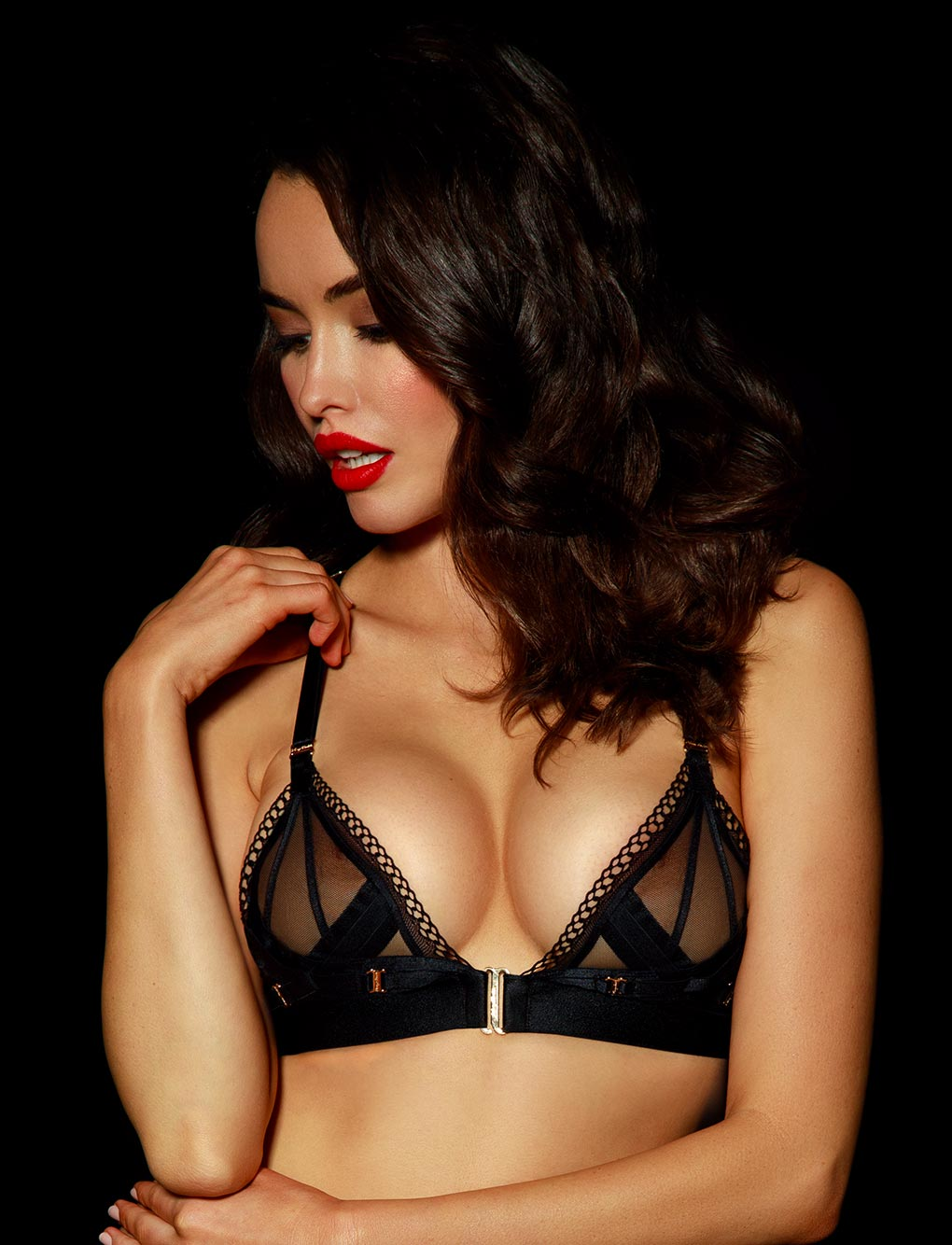 Vienna Black Bralette - Shop Bras | Honey Birdette