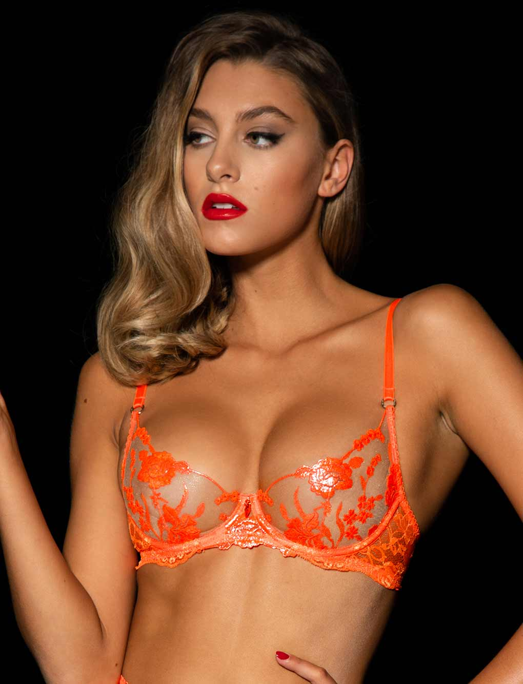 Whitney Orange Bra & Bottoms Set