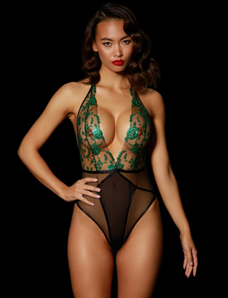 Whitney Emerald Bodysuit