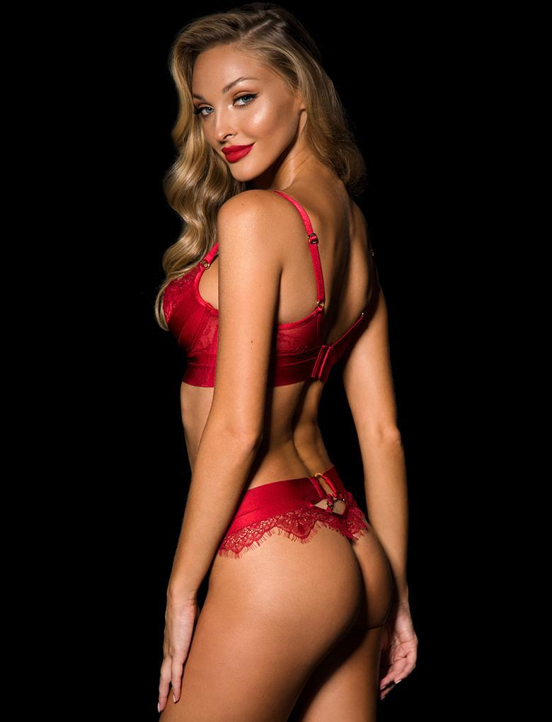 Belinda Red Lace G String - Shop Lingerie | Honey Birdette