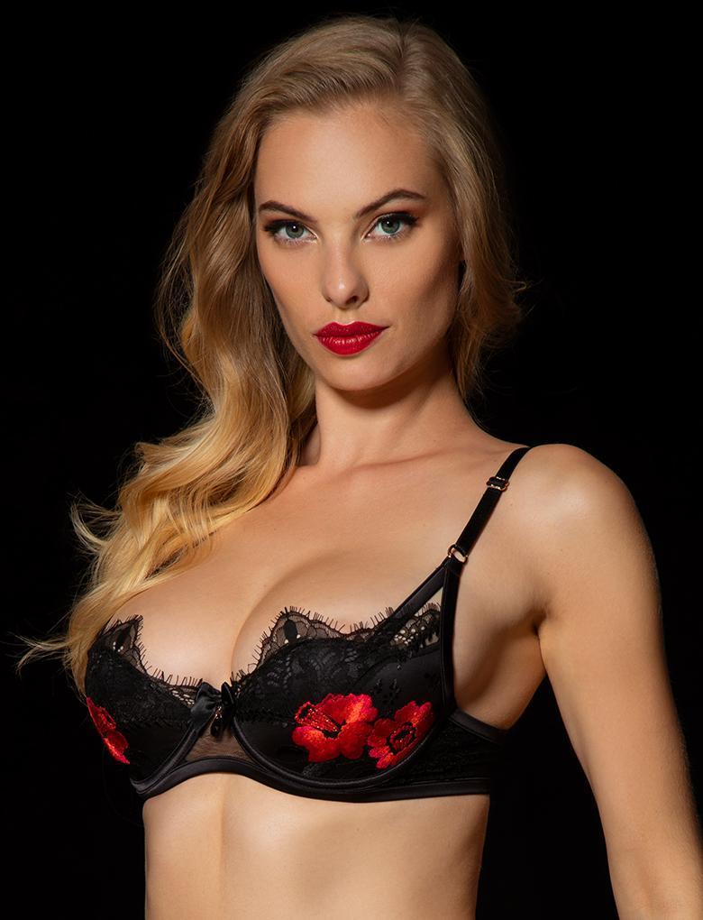Chelsea Black Lace Underwire Bra - Shop Lingerie | Honey Birdette