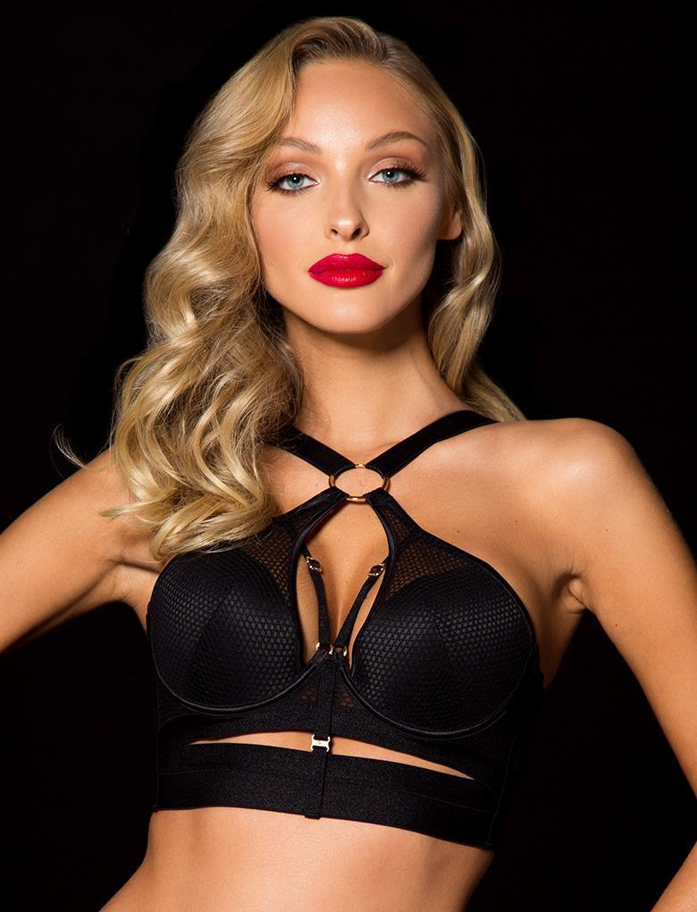 Chrissie Black Underwire Bra - Shop Lingerie | Honey Birdette