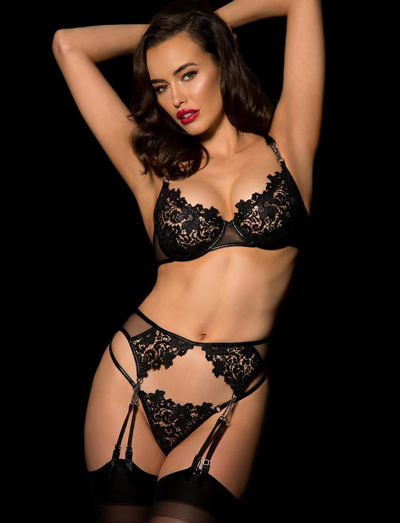 Fiorella Suspender - Shop Lingerie | Honey Birdette