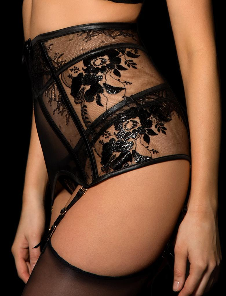 Issy Lacquer Garter Belt